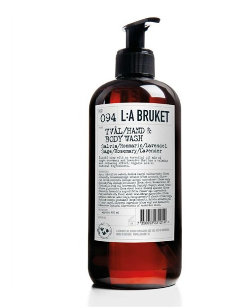 L:A Bruket Hand Body Wash Sage/Rosemary/Lavender 450 ml