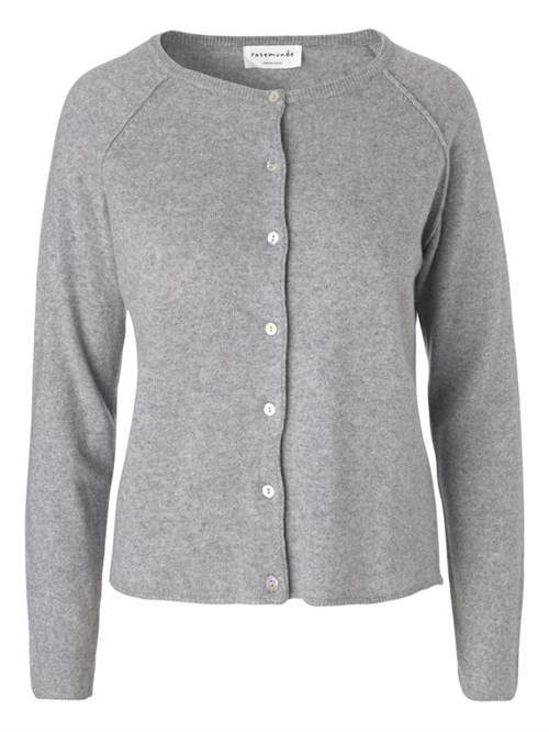 Rosemunde Cardigan LS Light grey melange