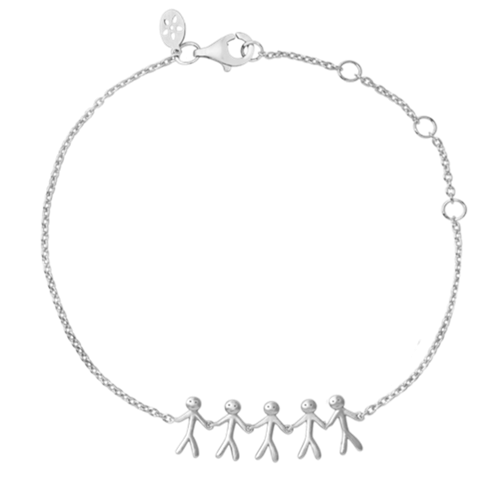 By Biehl Together Family 5 Armbånd Silver