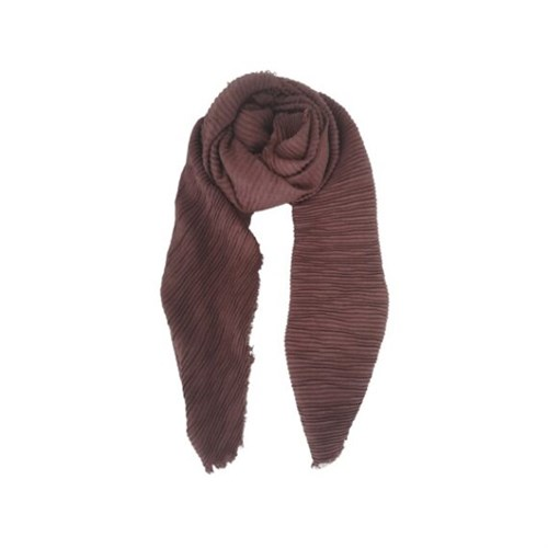 Black Colour Noisy Pleated Scarf - 3 farver
