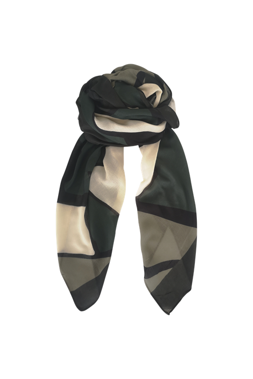 Black Colour Rocco Scarf Army OneSize