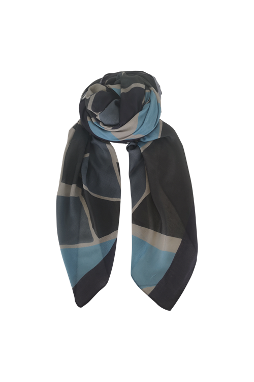 Black Colour// Rocco Scarf -Navy