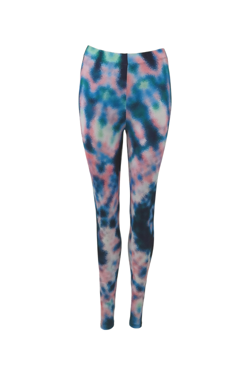 Black Colour // Sue Tie Dye Leggings