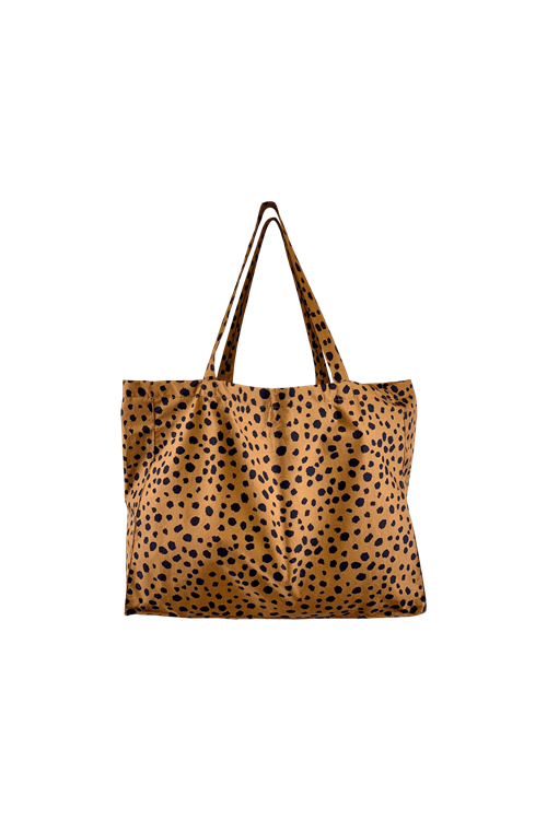 Black Colour My Big Shopper Bag - Camel