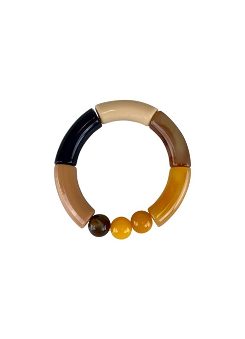 Black Colour Fenja Tube Bracelet Camel