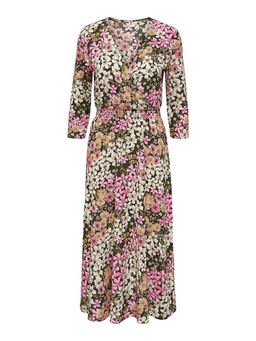 Only Saga 3/4 Wrap Dress JRS