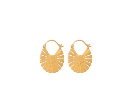 Pernille Corydon Flare Earrings 23 mm Gold