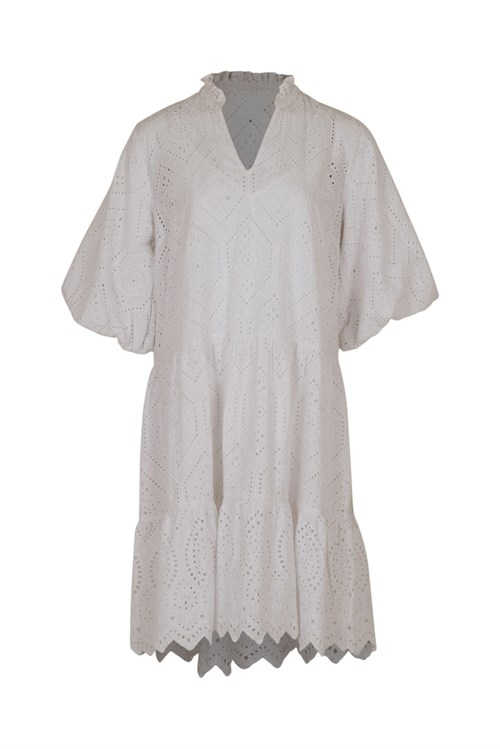 Neo Noir Kiko Embrodery White Dress