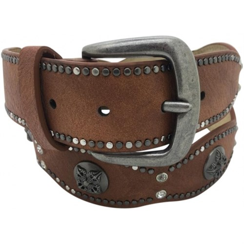 Just D'Lux Leather Belt With Studs