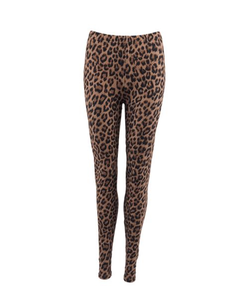 Black Colour LYNN Brown Leo Leggings