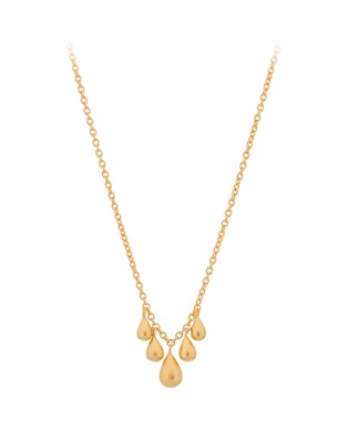 Pernille Corydon // Waterdrop Necklace - Forgyldt, 40-45 cm
