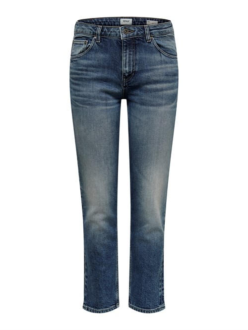 ONLY Ray Mid Straight Crop Jeans Rim19356