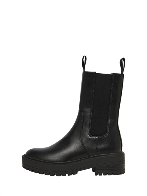 Only Brandy Elastic Boot PU